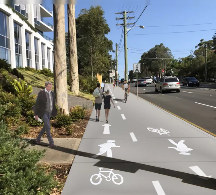 Proposed Willoughby Shared Path Pacific Highway – Bike North